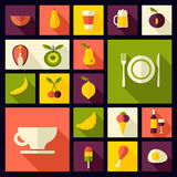 Vector flat style food background Royalty Free Stock Images