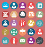 Vector Flat Style Icons Royalty Free Stock Image