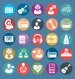 Vector Flat Style Icons stock illustration