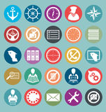 Vector Flat Style Icons Royalty Free Stock Photo
