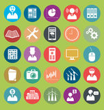 Vector Flat Style Icons Royalty Free Stock Photos