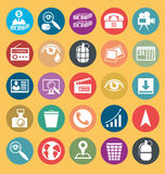 Vector Flat Style Icons Stock Photos