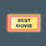 Vector flat style illustration of Best movie Royalty Free Stock Image