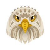 Vector flat style illustration of eagle face. Stock Photography