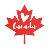 Vector flat style illustration of Maple Leaf. Stock Photography