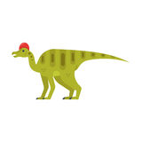 Vector flat style illustration of prehistoric animal - Corythosaurus. stock illustration