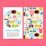 Vector Flat Summer Holidays Banners Set Template Stock Photo