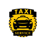 Vector flat taxi logo isolated on white background. Stock Photography