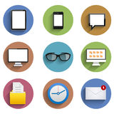 Vector flat technology circle icon set. Eps10 Royalty Free Stock Image