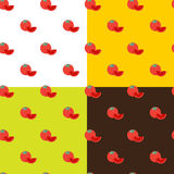 Vector flat tomatos seamless pattern Royalty Free Stock Photos