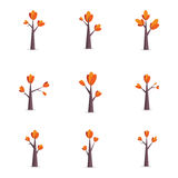 Vector flat of tree object set Royalty Free Stock Image