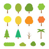 Vector flat trees Royalty Free Stock Photography
