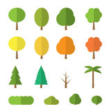 Vector flat trees Stock Images
