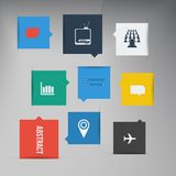 Vector flat UI design trend icons. Royalty Free Stock Photography