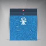 Vector flat UI design trend interface Stock Image