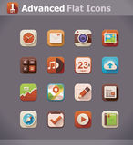 Vector flat UI icons vector illustration