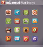 Vector flat UI icons Royalty Free Stock Photo