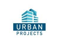 Vector flat urban construction company logo design template. Royalty Free Stock Photos
