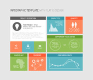 Vector Flat User Interface Infographic Royalty Free Stock Images