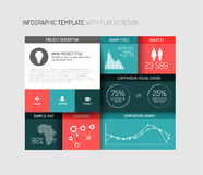 Vector flat user interface (UI) infographic template / design Stock Photo