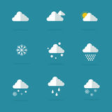 Vector flat of weather set. Collection stock Royalty Free Stock Photography