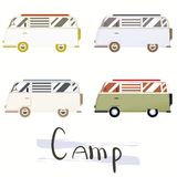 Vector flat web banner on the theme of Road trip. Stock Photo