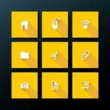Vector flat web icon set Royalty Free Stock Images