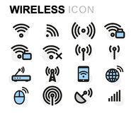 Vector flat wireless icons set Royalty Free Stock Photo