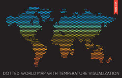 Vector Flat World Map Infographic. Map of the World. EPS 10 royalty free illustration