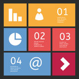 Vector flatdesign template Stock Images
