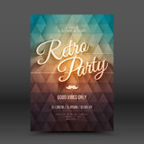 Vector Flayer Design Template Retro Party Stock Image