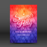 Vector Flayer Design Template Summer Party Stock Photo