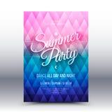 Vector Flayer Design Template Summer Party Stock Photo