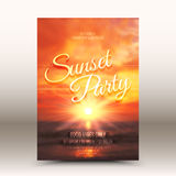 Vector Flayer Design Template Sunset Party Stock Photo