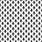 Vector fleur de lis seamless pattern in black and white Royalty Free Stock Photos