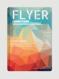 Vector Flieger, Broschüre Schablone für geometrische Zusammenfassung der Mode Stockbilder