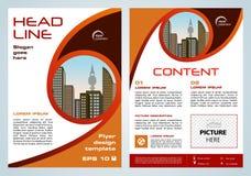 Vector Flieger, Firmenkundengeschäft, Jahresbericht, Broschürendesign vektor abbildung