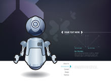 Vector floating robot design template Stock Image
