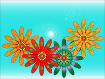 Vector flower. On the sky Stock Images