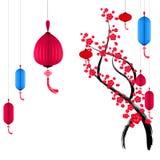 Vector a flor de cerejeira para o ano novo chinês e o festival meados de do outono ilustração royalty free