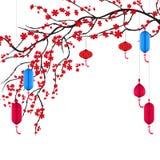 Vector a flor de cerejeira para o ano novo chinês e o festival meados de do outono ilustração stock