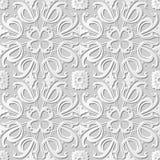 Vector a flor transversal espiral do fundo 249 sem emenda do teste padrão da arte do papel 3D do damasco Imagens de Stock Royalty Free
