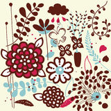 Vector flora set design Royalty Free Stock Photography