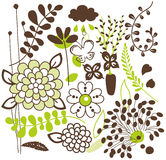 Vector flora vastgesteld ontwerp Stock Fotografie
