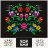 Vector floral étnico mexicano con diseño precioso y adorable libre illustration