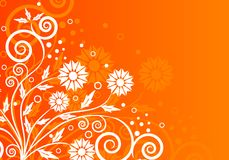 Vector floral abstract background Stock Photo