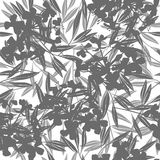 Vector floral abstract background with flowering branches.. Monochrome floral abstract background with flowering branches Royalty Free Stock Photography