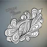 Vector floral abstract hand drawn design. Vector floral abstract hand drawn sketch design Stock Photos