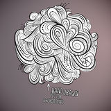 Vector floral abstract hand drawn design Royalty Free Stock Photos