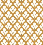 Vector Floral Abstract Seamless Pattern. Art Deco Style Background. Geometric texture. Royalty Free Stock Images